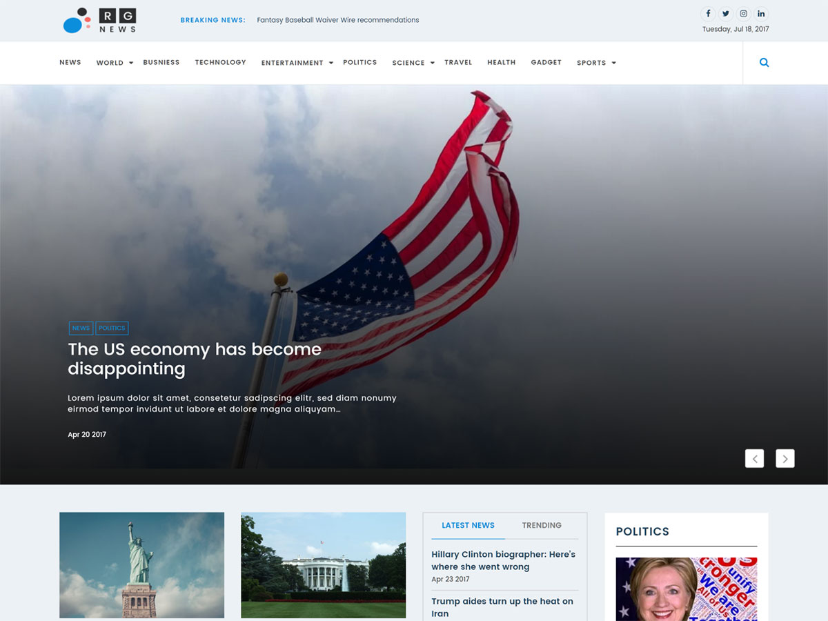 Online News Preview Wordpress Theme - Rating, Reviews, Preview, Demo & Download