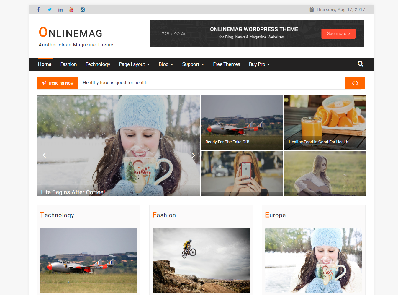 OnlineMag Preview Wordpress Theme - Rating, Reviews, Preview, Demo & Download