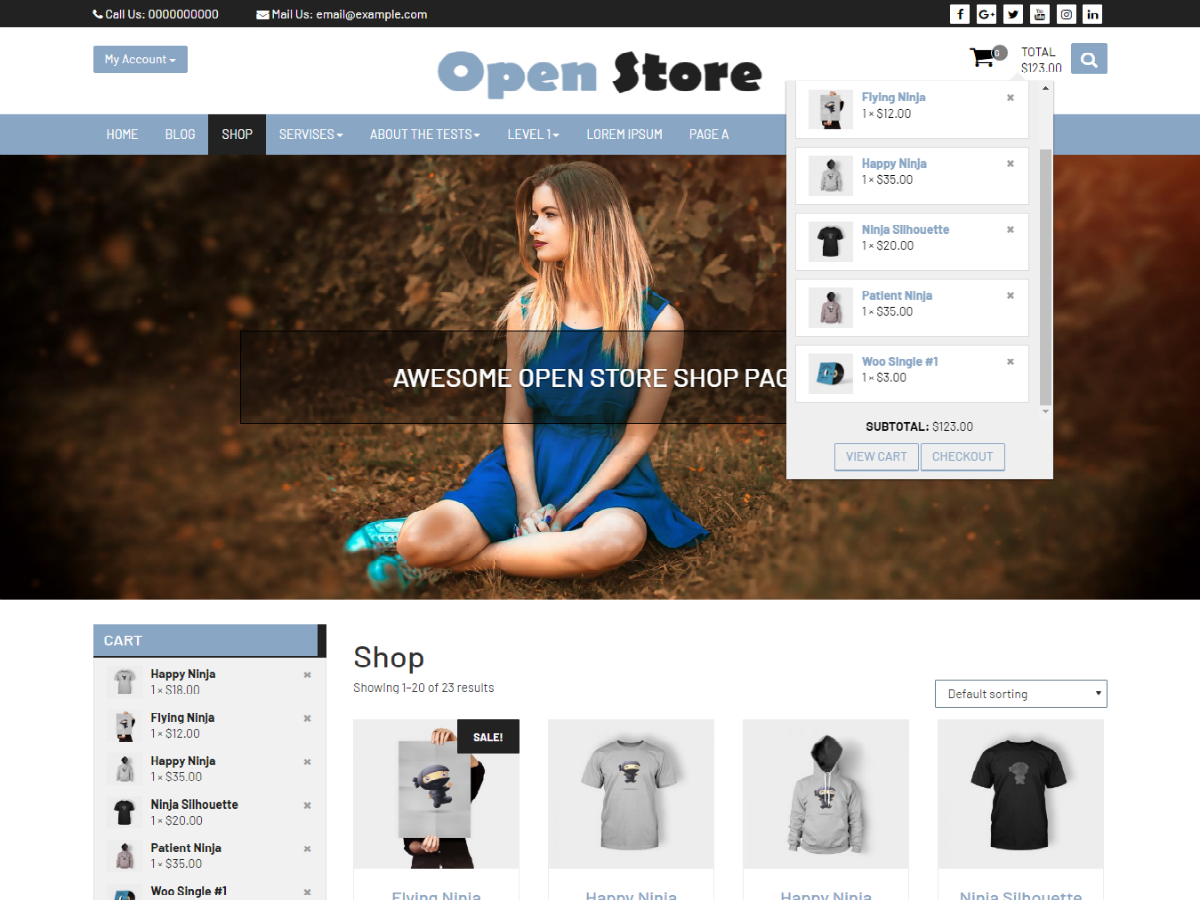 Open Store Preview Wordpress Theme - Rating, Reviews, Preview, Demo & Download