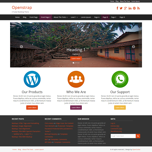 Openstrap Preview Wordpress Theme - Rating, Reviews, Preview, Demo & Download