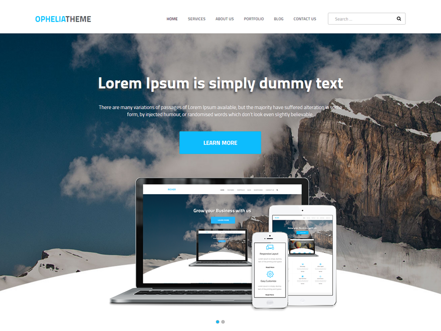 Ophelia Preview Wordpress Theme - Rating, Reviews, Preview, Demo & Download