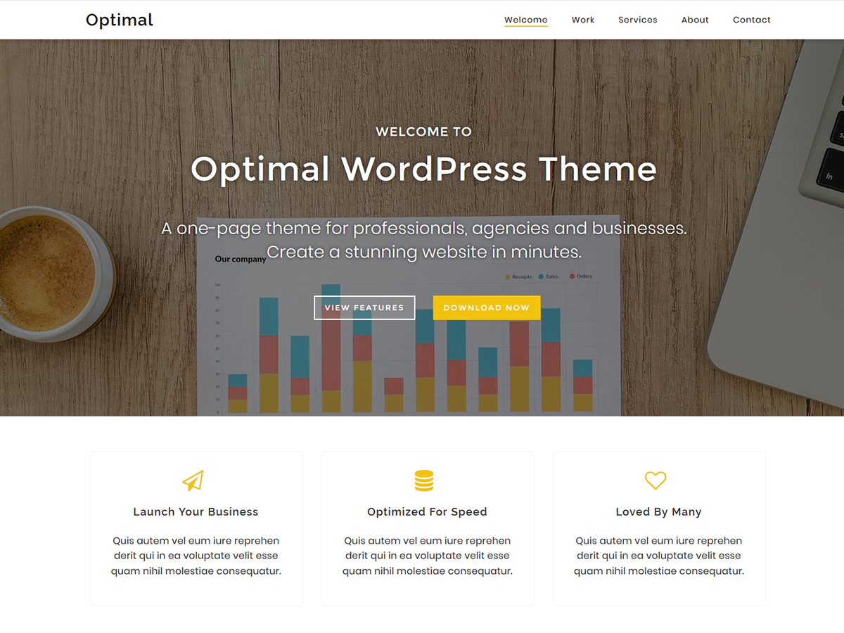 Optimal Preview Wordpress Theme - Rating, Reviews, Preview, Demo & Download