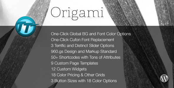 Origami Wordpress Preview Wordpress Theme - Rating, Reviews, Preview, Demo & Download