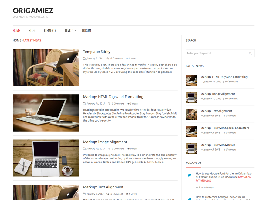 Origamiez Preview Wordpress Theme - Rating, Reviews, Preview, Demo & Download
