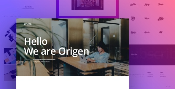 Origen Preview Wordpress Theme - Rating, Reviews, Preview, Demo & Download