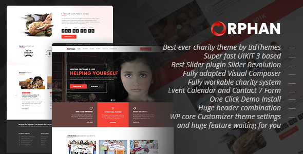 Orphan Preview Wordpress Theme - Rating, Reviews, Preview, Demo & Download