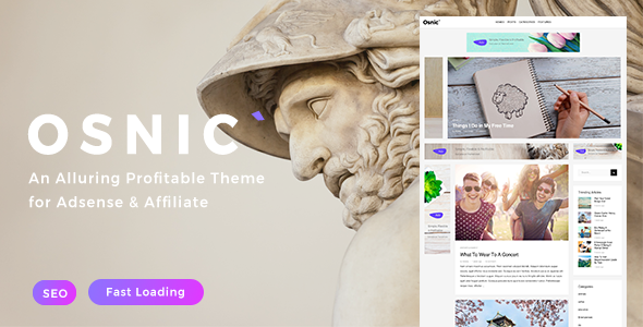Osnic Preview Wordpress Theme - Rating, Reviews, Preview, Demo & Download