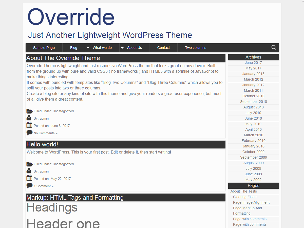 Override Preview Wordpress Theme - Rating, Reviews, Preview, Demo & Download