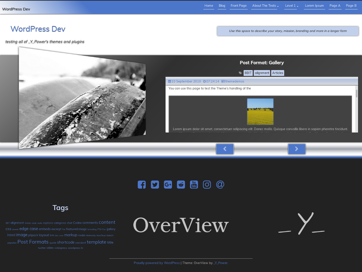 OverView Preview Wordpress Theme - Rating, Reviews, Preview, Demo & Download
