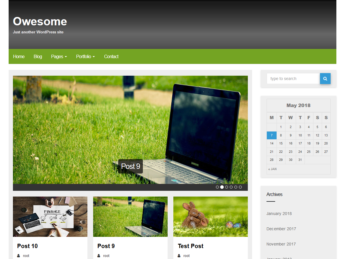 Owesome Preview Wordpress Theme - Rating, Reviews, Preview, Demo & Download