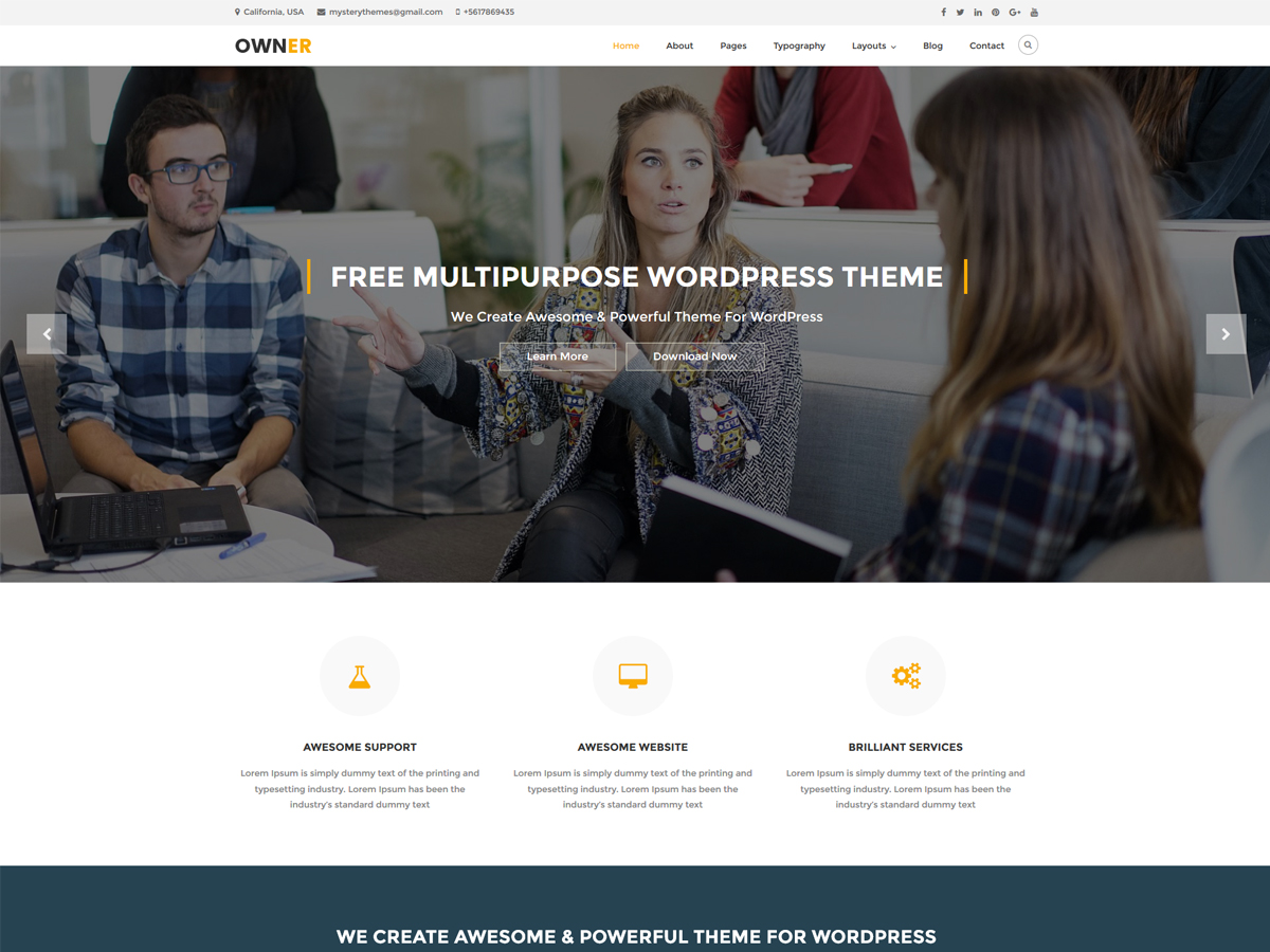 Owner Preview Wordpress Theme - Rating, Reviews, Preview, Demo & Download