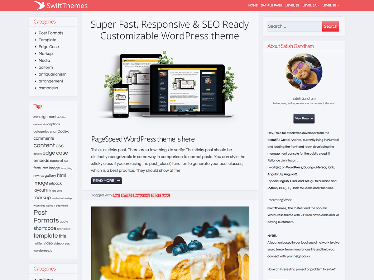 Page Speed Preview Wordpress Theme - Rating, Reviews, Preview, Demo & Download