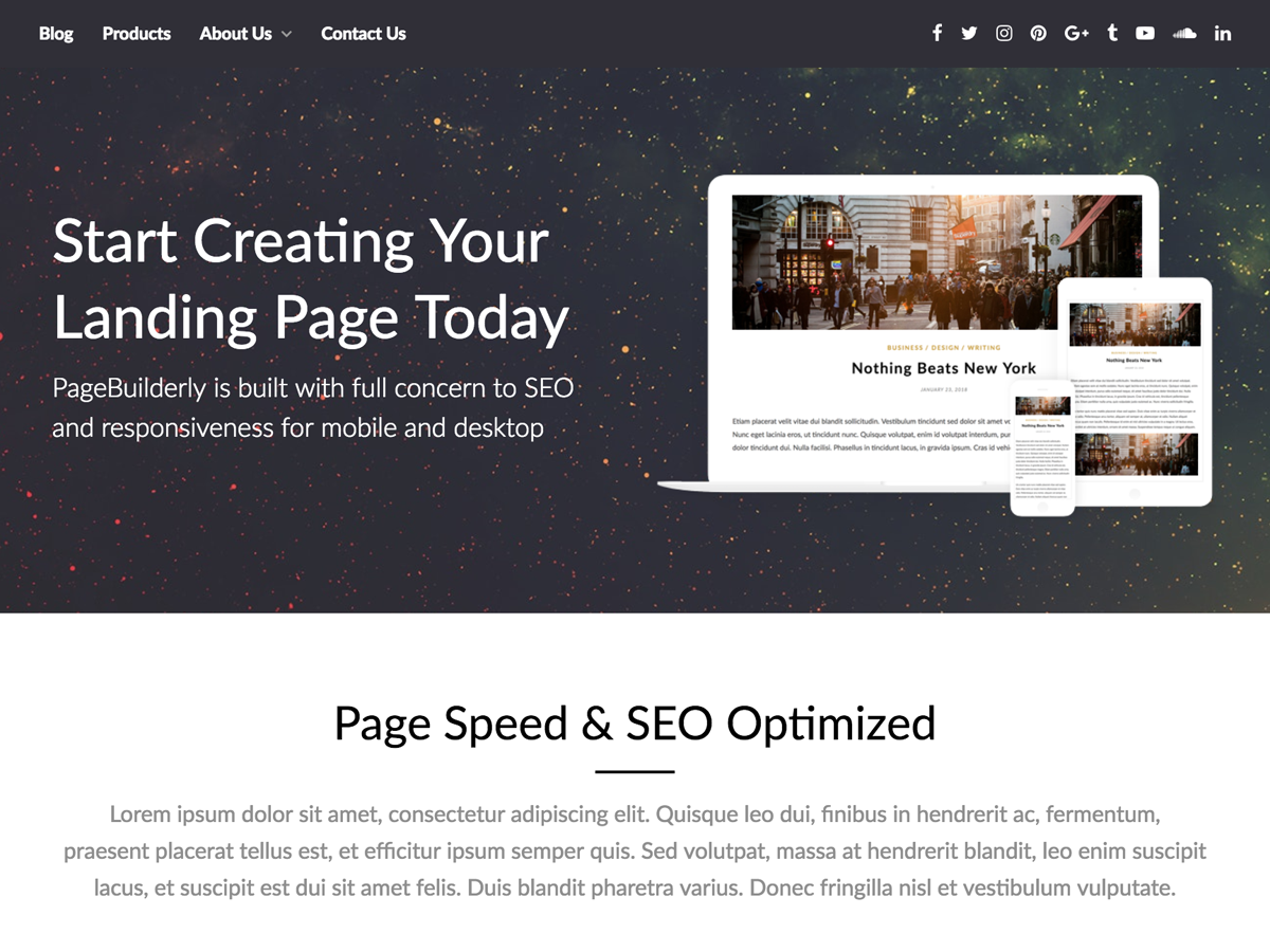 PageBuilderly Preview Wordpress Theme - Rating, Reviews, Preview, Demo & Download