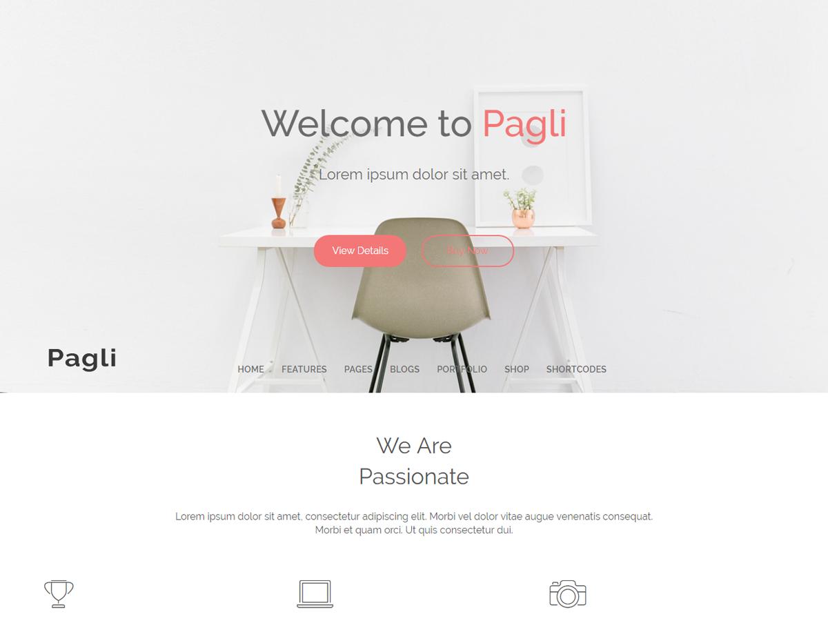 Pagli Preview Wordpress Theme - Rating, Reviews, Preview, Demo & Download