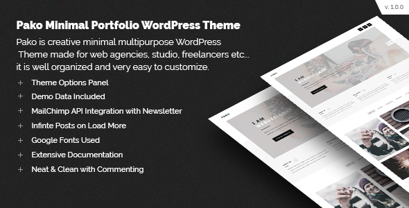 Pako Minimal Preview Wordpress Theme - Rating, Reviews, Preview, Demo & Download