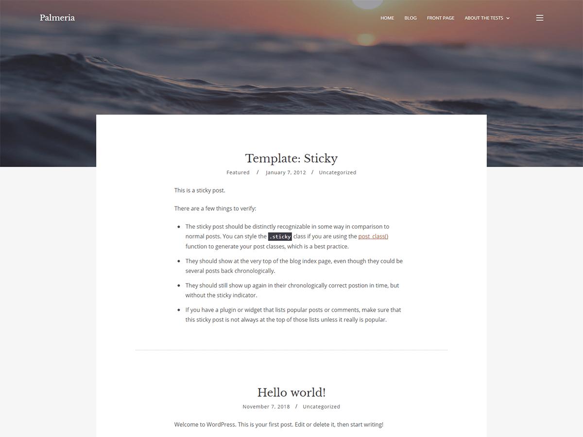 Palmeria Preview Wordpress Theme - Rating, Reviews, Preview, Demo & Download