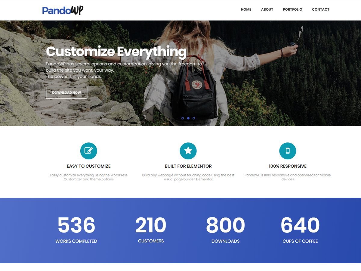 PandoWP Preview Wordpress Theme - Rating, Reviews, Preview, Demo & Download