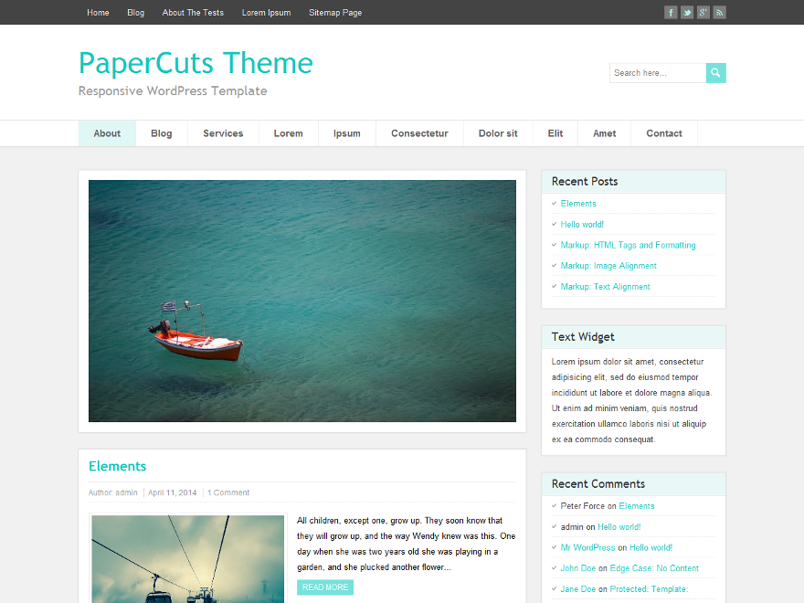 PaperCuts Preview Wordpress Theme - Rating, Reviews, Preview, Demo & Download