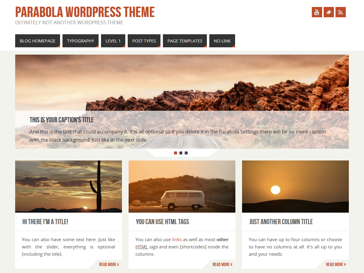 Parabola Preview Wordpress Theme - Rating, Reviews, Preview, Demo & Download