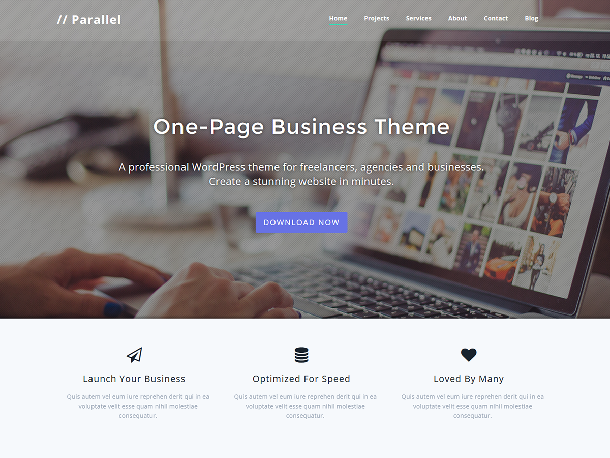 Parallel Preview Wordpress Theme - Rating, Reviews, Preview, Demo & Download