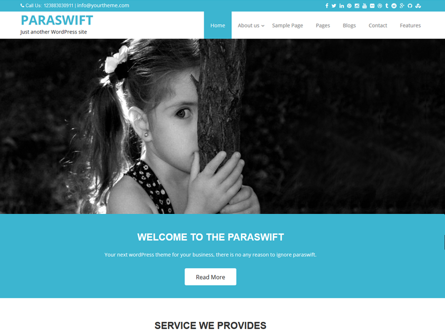 Paraswift Preview Wordpress Theme - Rating, Reviews, Preview, Demo & Download