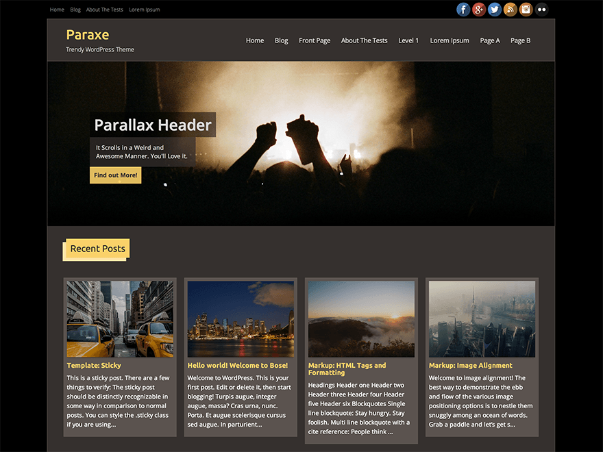 Paraxe Preview Wordpress Theme - Rating, Reviews, Preview, Demo & Download
