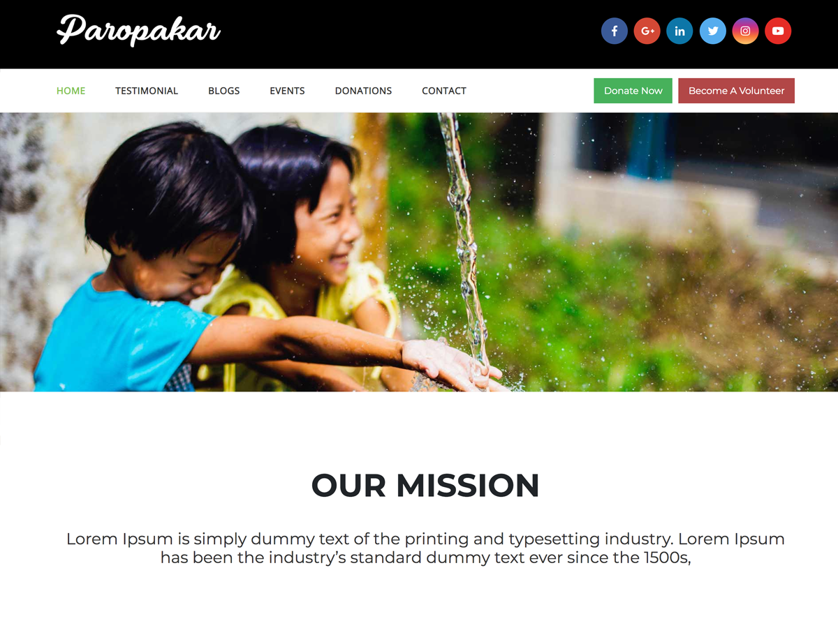 Paropakar Preview Wordpress Theme - Rating, Reviews, Preview, Demo & Download
