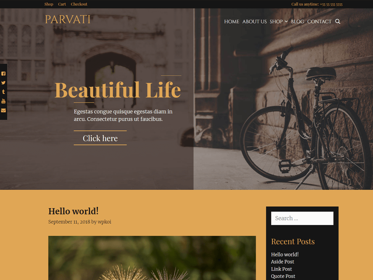 Parvati Preview Wordpress Theme - Rating, Reviews, Preview, Demo & Download