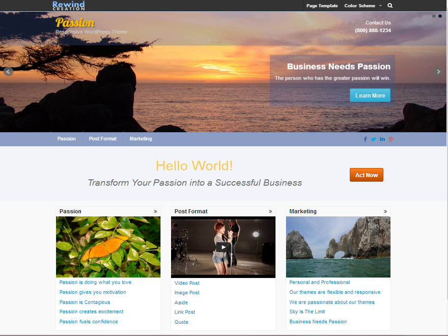 Passion Preview Wordpress Theme - Rating, Reviews, Preview, Demo & Download
