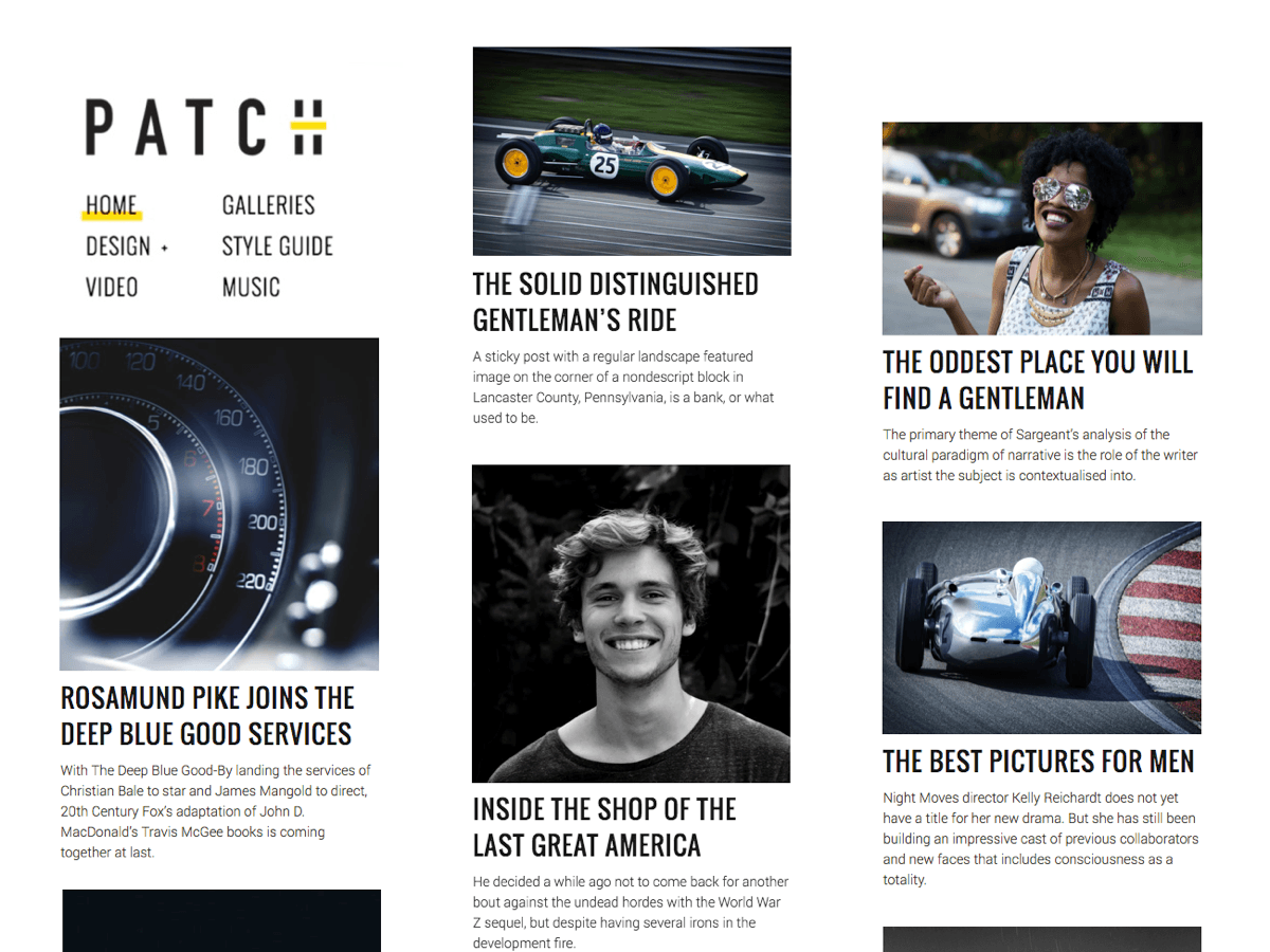 Patch Lite Preview Wordpress Theme - Rating, Reviews, Preview, Demo & Download