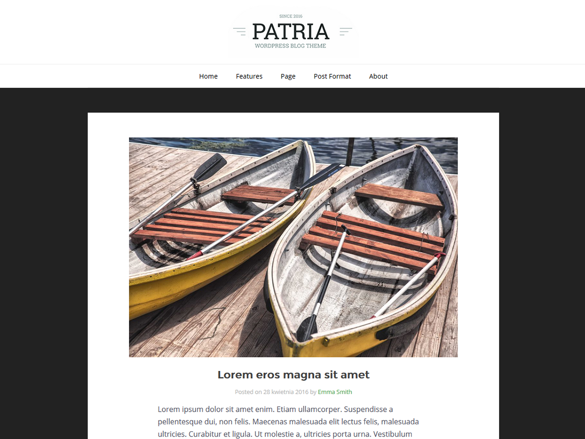 Patria Preview Wordpress Theme - Rating, Reviews, Preview, Demo & Download