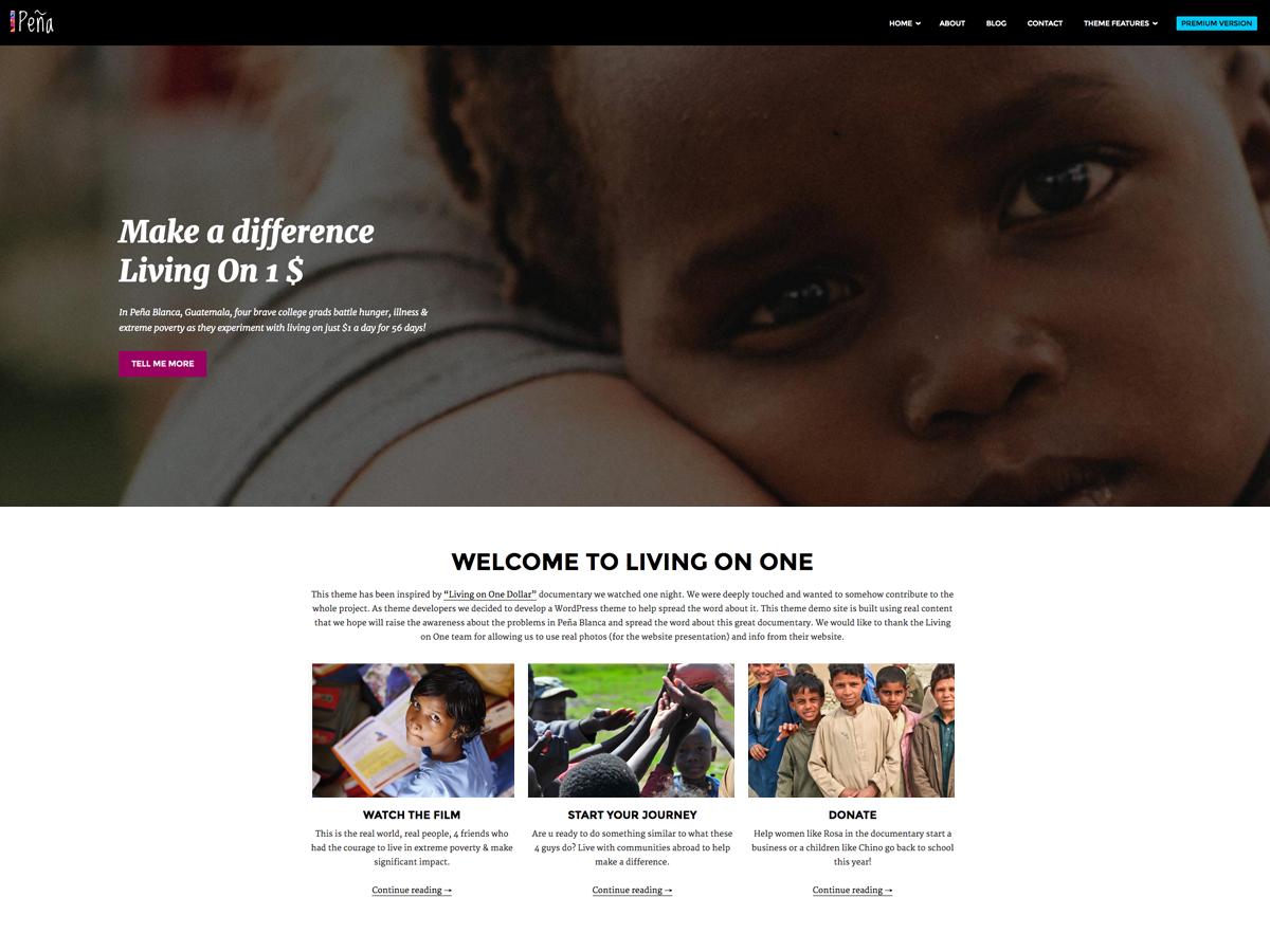 Pena Lite Preview Wordpress Theme - Rating, Reviews, Preview, Demo & Download