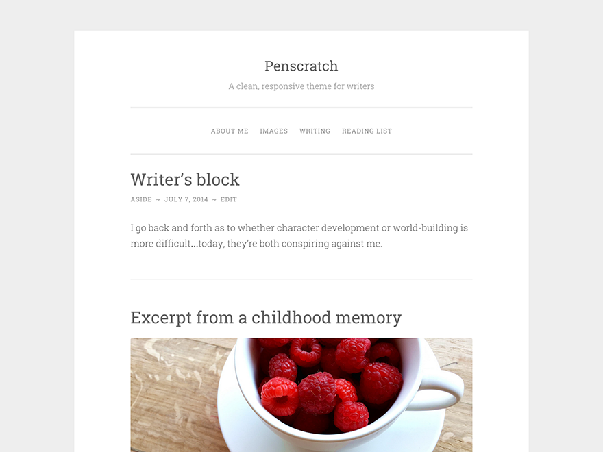 Penscratch Preview Wordpress Theme - Rating, Reviews, Preview, Demo & Download