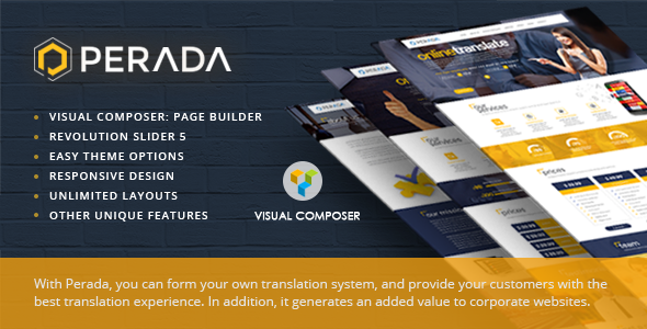 Perada Preview Wordpress Theme - Rating, Reviews, Preview, Demo & Download