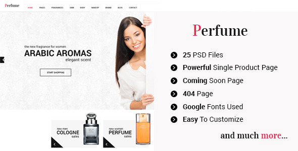 Perfume Preview Wordpress Theme - Rating, Reviews, Preview, Demo & Download