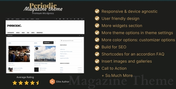 Periodic Preview Wordpress Theme - Rating, Reviews, Preview, Demo & Download