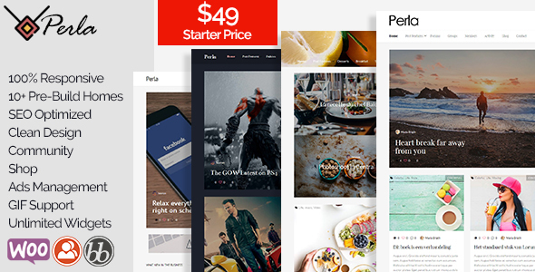 Perla Preview Wordpress Theme - Rating, Reviews, Preview, Demo & Download