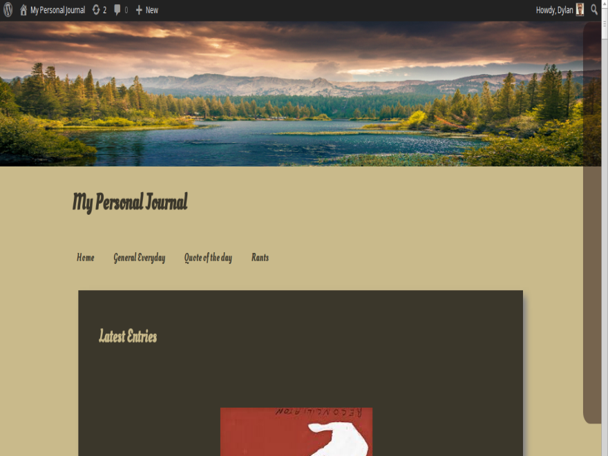 Personal Journal Preview Wordpress Theme - Rating, Reviews, Preview, Demo & Download