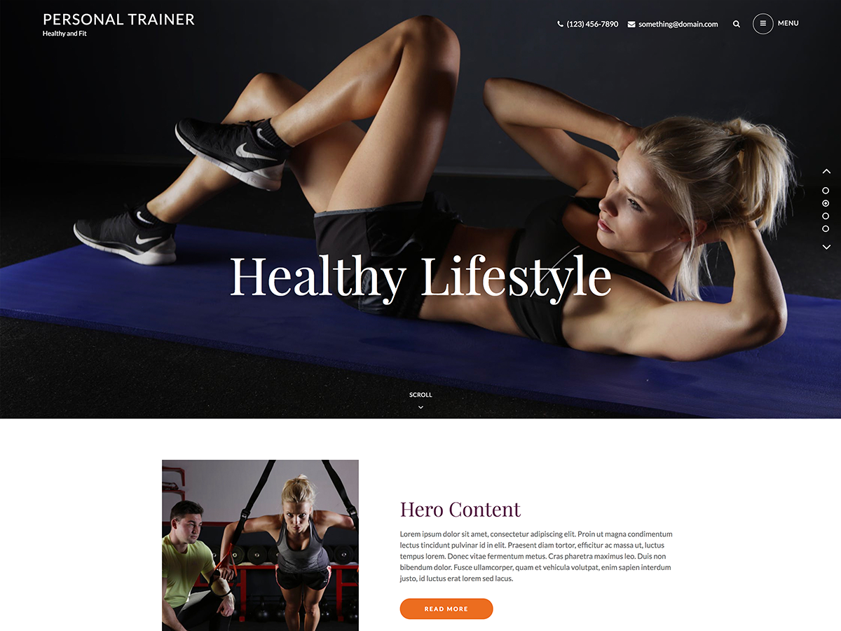 Personal Trainer Preview Wordpress Theme - Rating, Reviews, Preview, Demo & Download