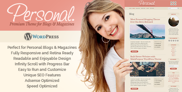 Personal WordPress Preview Wordpress Theme - Rating, Reviews, Preview, Demo & Download