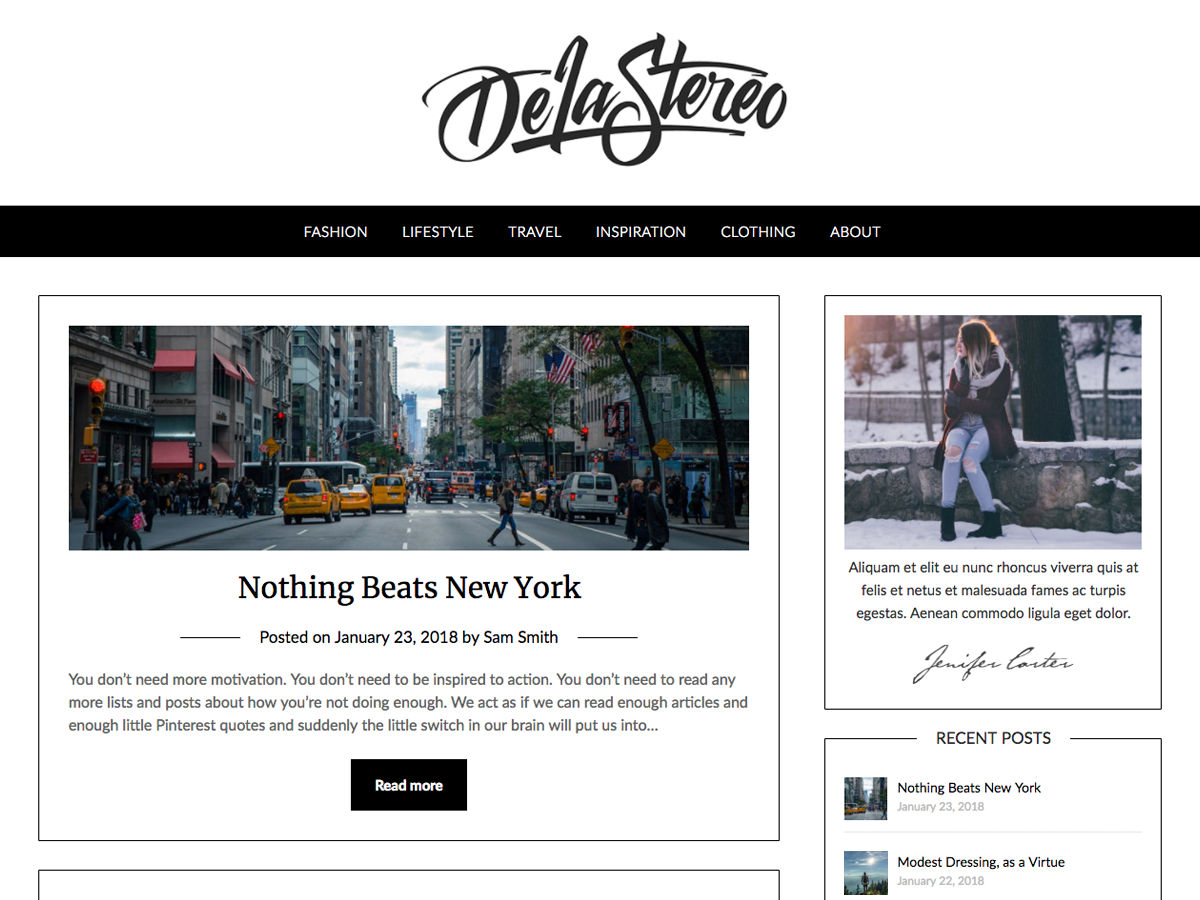 Personalblogily Preview Wordpress Theme - Rating, Reviews, Preview, Demo & Download