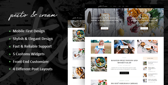 PestoCream Preview Wordpress Theme - Rating, Reviews, Preview, Demo & Download