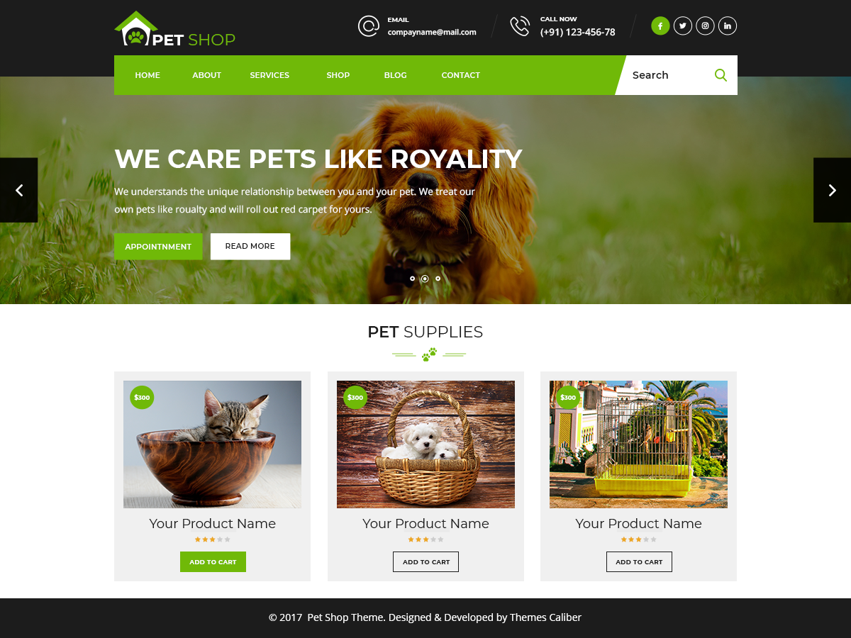 Pet Animal Preview Wordpress Theme - Rating, Reviews, Preview, Demo & Download