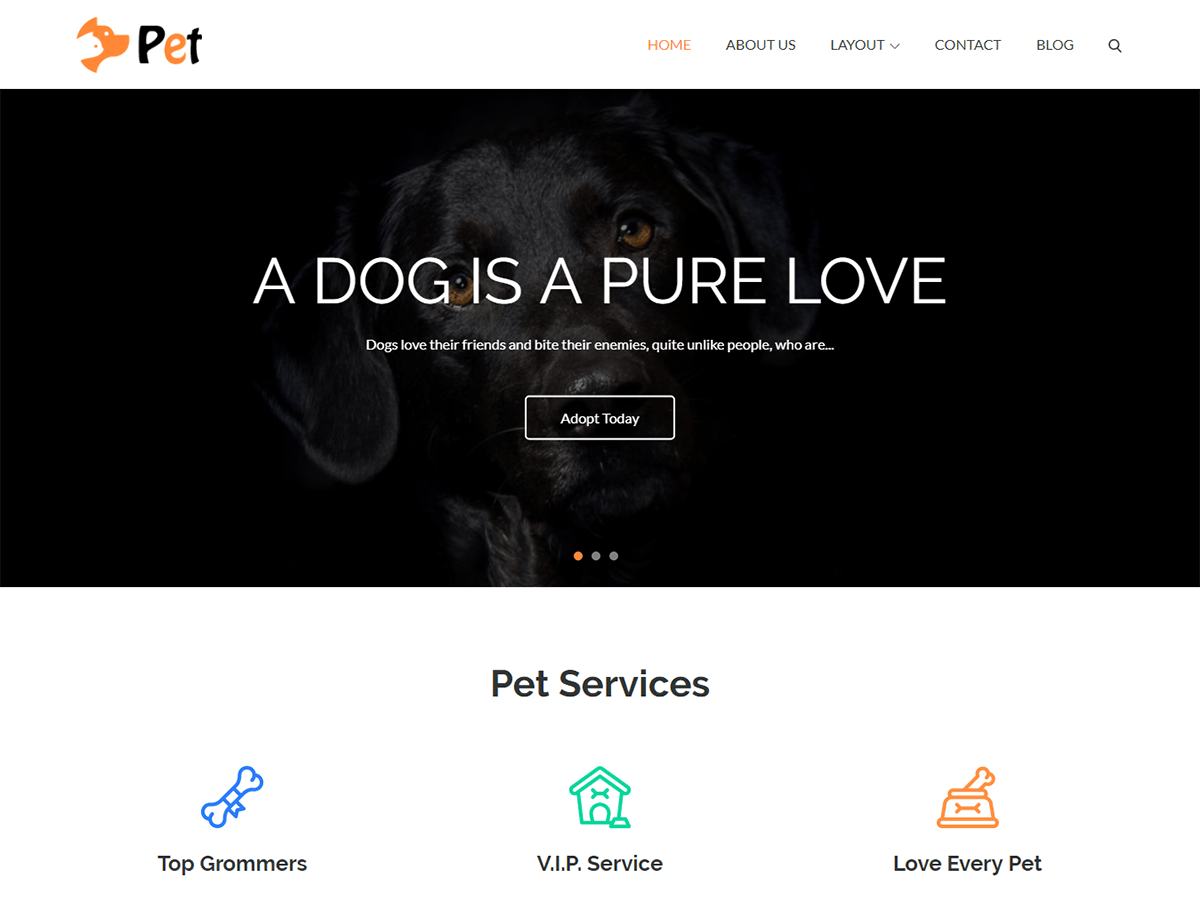 Pet Business Preview Wordpress Theme - Rating, Reviews, Preview, Demo & Download
