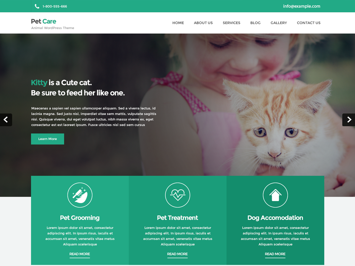 Petcare Lite Preview Wordpress Theme - Rating, Reviews, Preview, Demo & Download