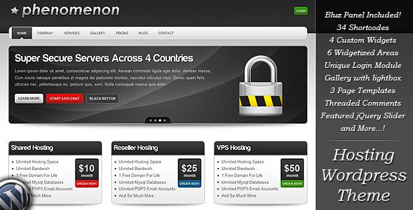 Phenomenon Preview Wordpress Theme - Rating, Reviews, Preview, Demo & Download