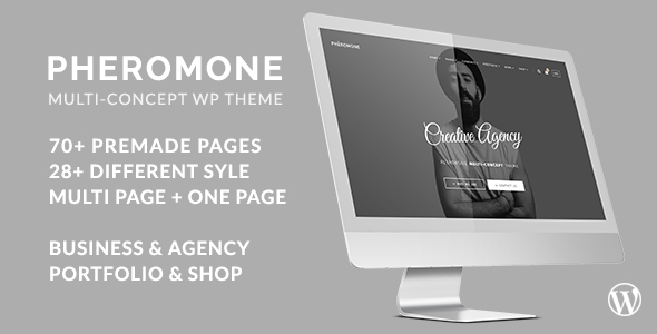Pheromone Preview Wordpress Theme - Rating, Reviews, Preview, Demo & Download