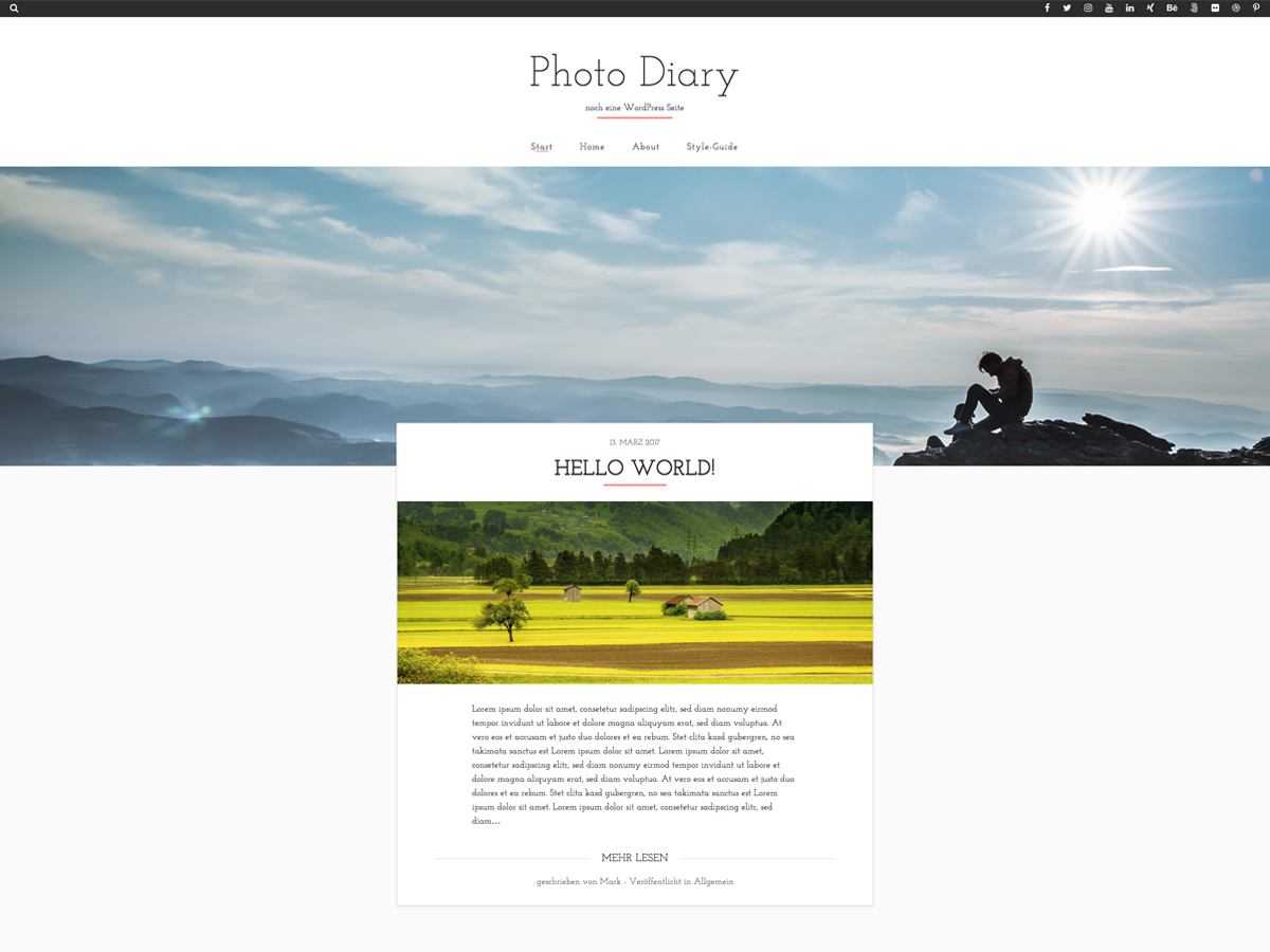 Photo Diary Preview Wordpress Theme - Rating, Reviews, Preview, Demo & Download