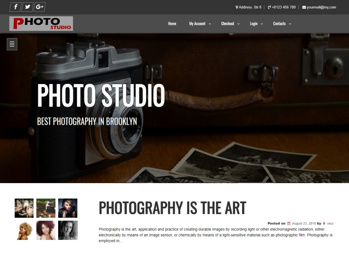 Photo Studio Preview Wordpress Theme - Rating, Reviews, Preview, Demo & Download