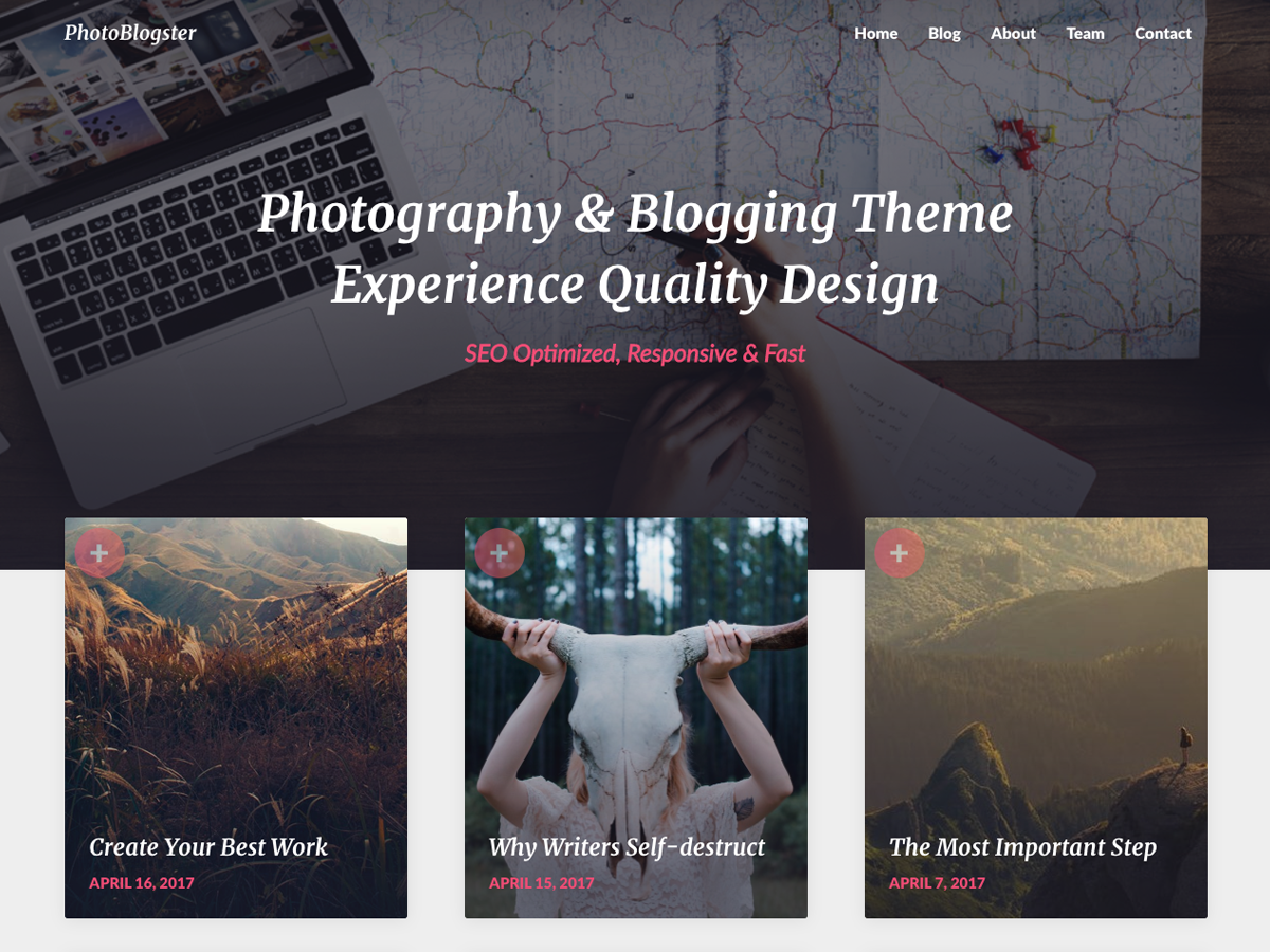 PhotoBlogster Preview Wordpress Theme - Rating, Reviews, Preview, Demo & Download
